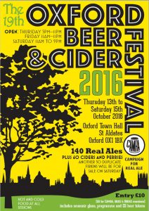 Oxford Beer Festival 2016